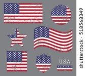 vintage usa american grunge...   Shutterstock .eps vector #518568349
