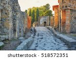 Ancient Ruins In Pompeii  Roma...