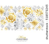 gold and silver paper... | Shutterstock .eps vector #518573245