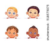 Vector Set Of Multi Ethnic Bab...