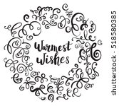 christmas card template. hand... | Shutterstock .eps vector #518580385