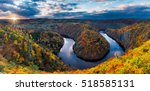 Panoramic View Of River Canyon...