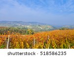 view on vineyards and small... | Shutterstock . vector #518586235