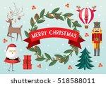 christmas elements   christmas... | Shutterstock .eps vector #518588011