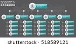 corporate organization chart... | Shutterstock .eps vector #518589121