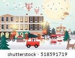 christmas scene   christmas... | Shutterstock .eps vector #518591719