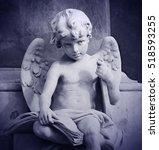 Pretty Child Angel Statue...
