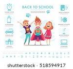back to school info graphic... | Shutterstock .eps vector #518594917