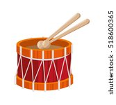 drum toy kid isolated icon | Shutterstock .eps vector #518600365