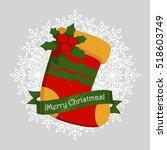christmas sock symbol   | Shutterstock .eps vector #518603749