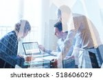 teamwork concept  business team ... | Shutterstock . vector #518606029