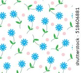 simple vector seamless pattern... | Shutterstock .eps vector #518606881
