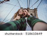 beautiful happy couple taking... | Shutterstock . vector #518610649