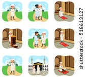 a vector illustration of muslim ... | Shutterstock .eps vector #518613127