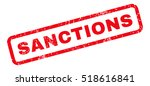 sanctions text rubber seal... | Shutterstock .eps vector #518616841