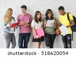 education students people... | Shutterstock . vector #518620054
