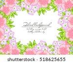 vintage delicate invitation... | Shutterstock .eps vector #518625655