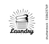 laundry room vintage logo ... | Shutterstock .eps vector #518625769