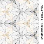 Stock vector abstract linear petal flower vector pattern 518625907