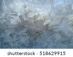 winter patterns on glass from... | Shutterstock . vector #518629915