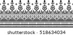 seamless lace pattern | Shutterstock .eps vector #518634034