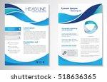 vector brochure flyer design... | Shutterstock .eps vector #518636365