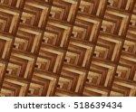 fragment of parquet floor | Shutterstock . vector #518639434