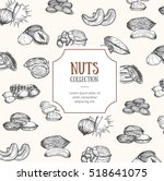 nuts package design hand draw... | Shutterstock . vector #518641075