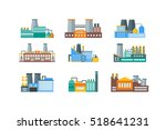 factory or industrial building... | Shutterstock . vector #518641231
