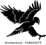 Hawk Silhouette Flying