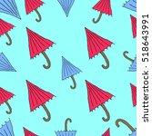 the pattern of umbrellas... | Shutterstock .eps vector #518643991