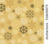 hand drawn christmas seamless... | Shutterstock .eps vector #518650075