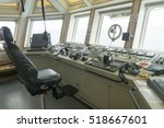 wheelhouse of tug boat.