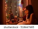 christmas celebration. sweet... | Shutterstock . vector #518667685