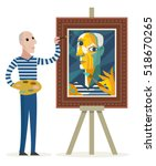 Cubist Painter Creating A...
