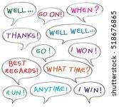 speech bubbles with original... | Shutterstock . vector #518676865