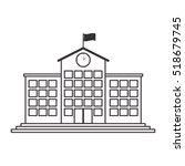 silhouette high school... | Shutterstock .eps vector #518679745