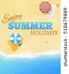 summer beach party banner flyer ...   Shutterstock . vector #518679889