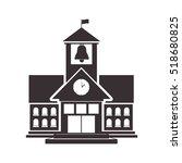 black silhouette high school... | Shutterstock .eps vector #518680825
