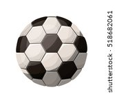 silhouette color with soccer... | Shutterstock .eps vector #518682061