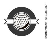 gray scale emblem with golf...   Shutterstock .eps vector #518683207