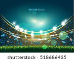sports stadium with lights  eps ... | Shutterstock .eps vector #518686435