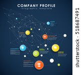 company profile overview... | Shutterstock .eps vector #518687491