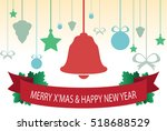 christmas congratulatory card... | Shutterstock .eps vector #518688529