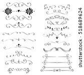 set of hand drawn vignettes in...   Shutterstock .eps vector #518689624