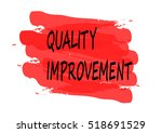 quality improvement vector card | Shutterstock .eps vector #518691529
