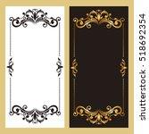 vintage frames and vignettes ... | Shutterstock .eps vector #518692354