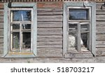 window in old wooden house | Shutterstock . vector #518703217
