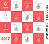 calendar for 2017 year. vector...   Shutterstock .eps vector #518703469