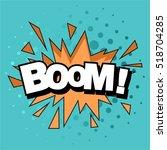 pop art comic bubbles design.... | Shutterstock .eps vector #518704285